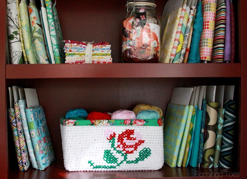 Floral Crochet Basket