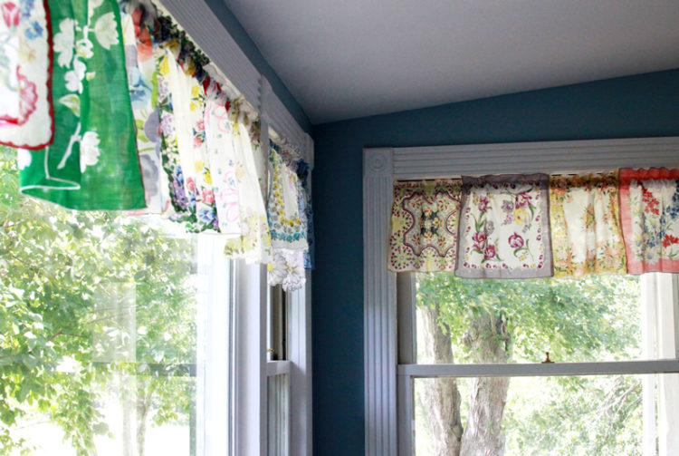 Handkerchief Curtains DIY