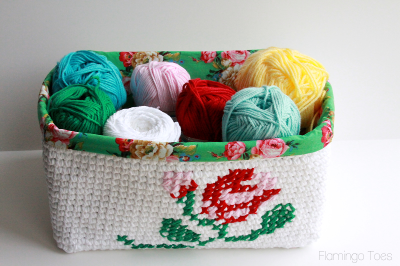 Lined Crochet Basket
