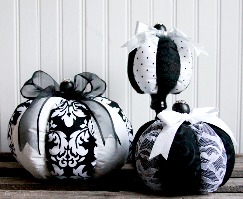 Pretty Fabric Pumpkins
