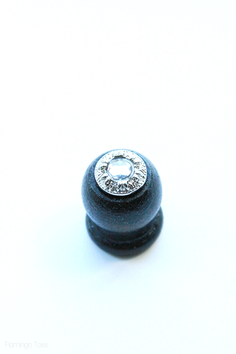 wooden end cap and button