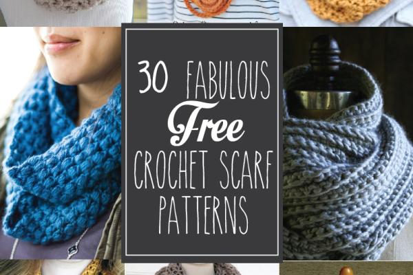 30 Free Crochet Scarf Patterns