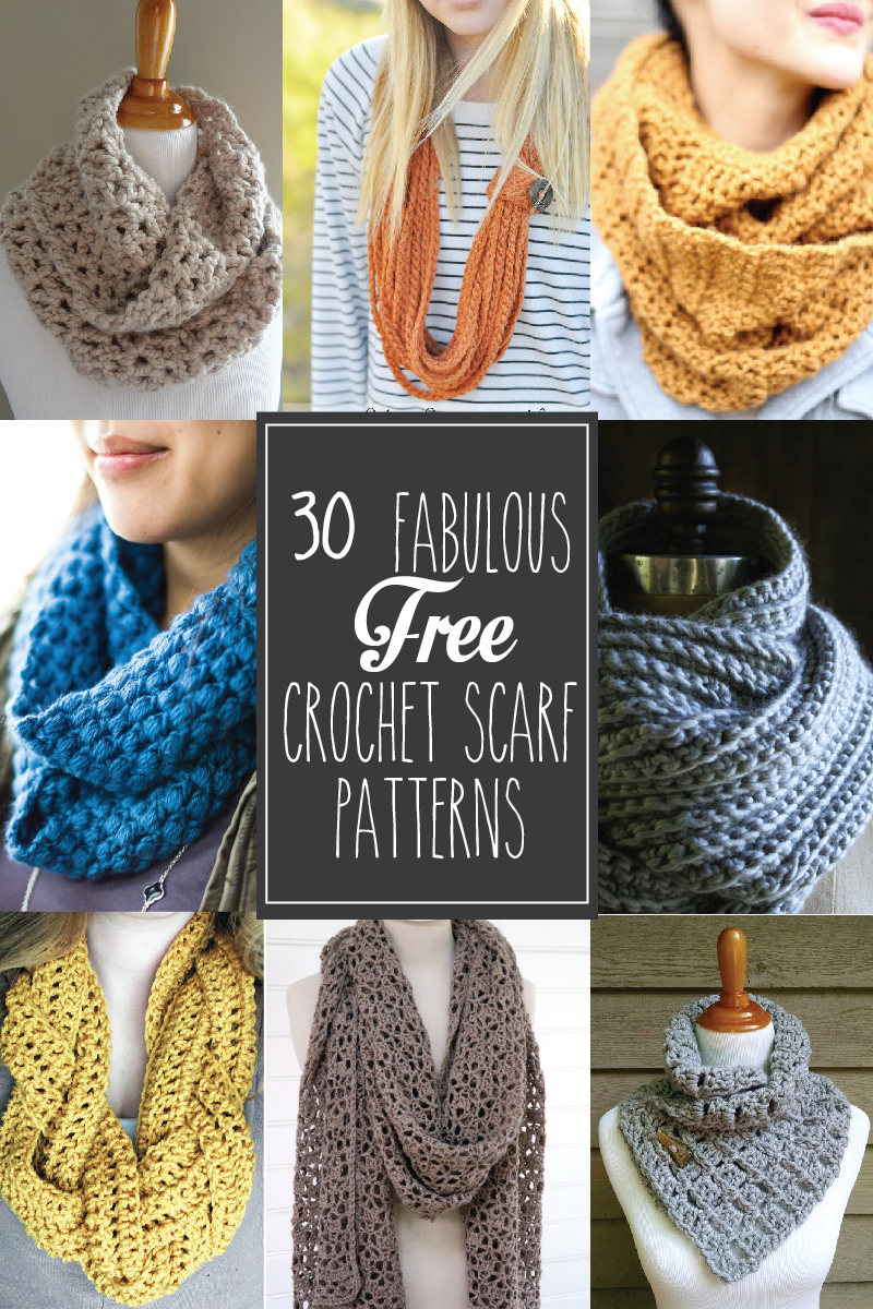 30 fabulous and free crochet scarf patterns 30 free crochet scarf patterns these are so great bankloansurffo Choice Image