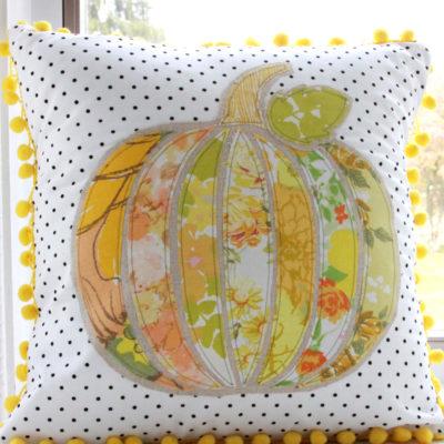Vintage Pumpkin Fall Pillow