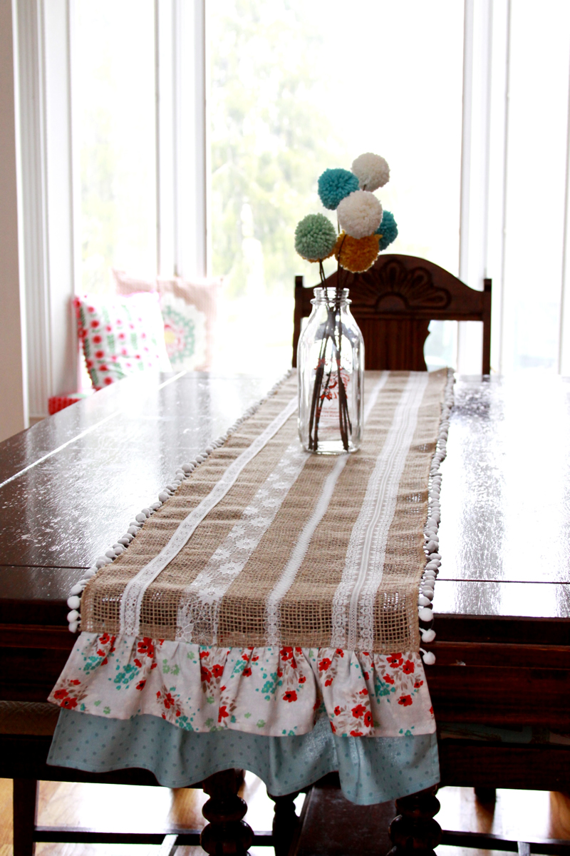 Burlap and Ruffles Runner