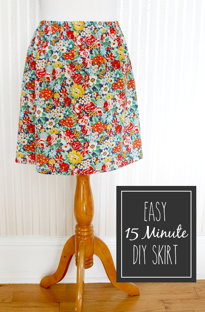 15 Minute DIY Skirt tutorial featured by top US sewing blog, Flamingo Toes