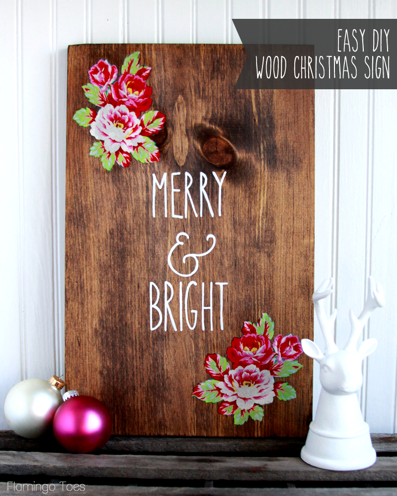 Easy DIY Wood Christmas Sign