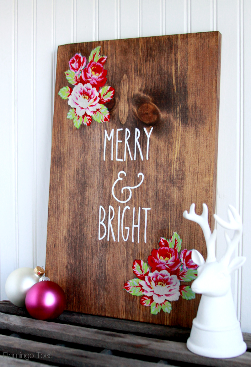 Easy Wood Christmas Sign