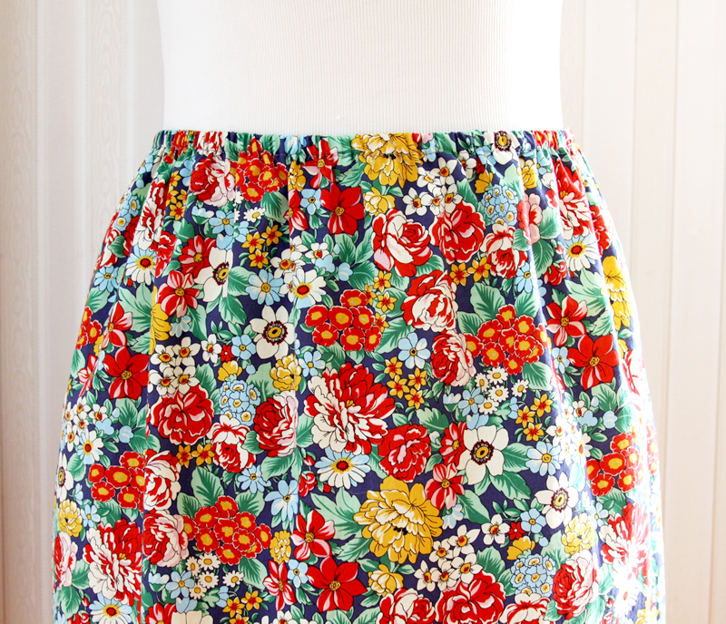 15 Minute DIY Skirt tutorial featured by top US sewing blog, Flamingo Toes: Fast and Easy DIY Skirt