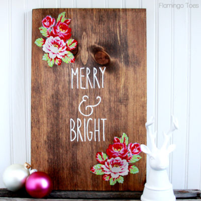 DIY Merry and Bright Christmas Sign