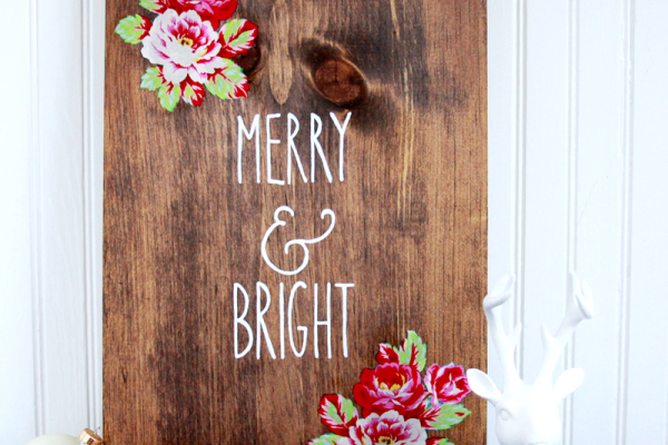 Floral Christmas Sign