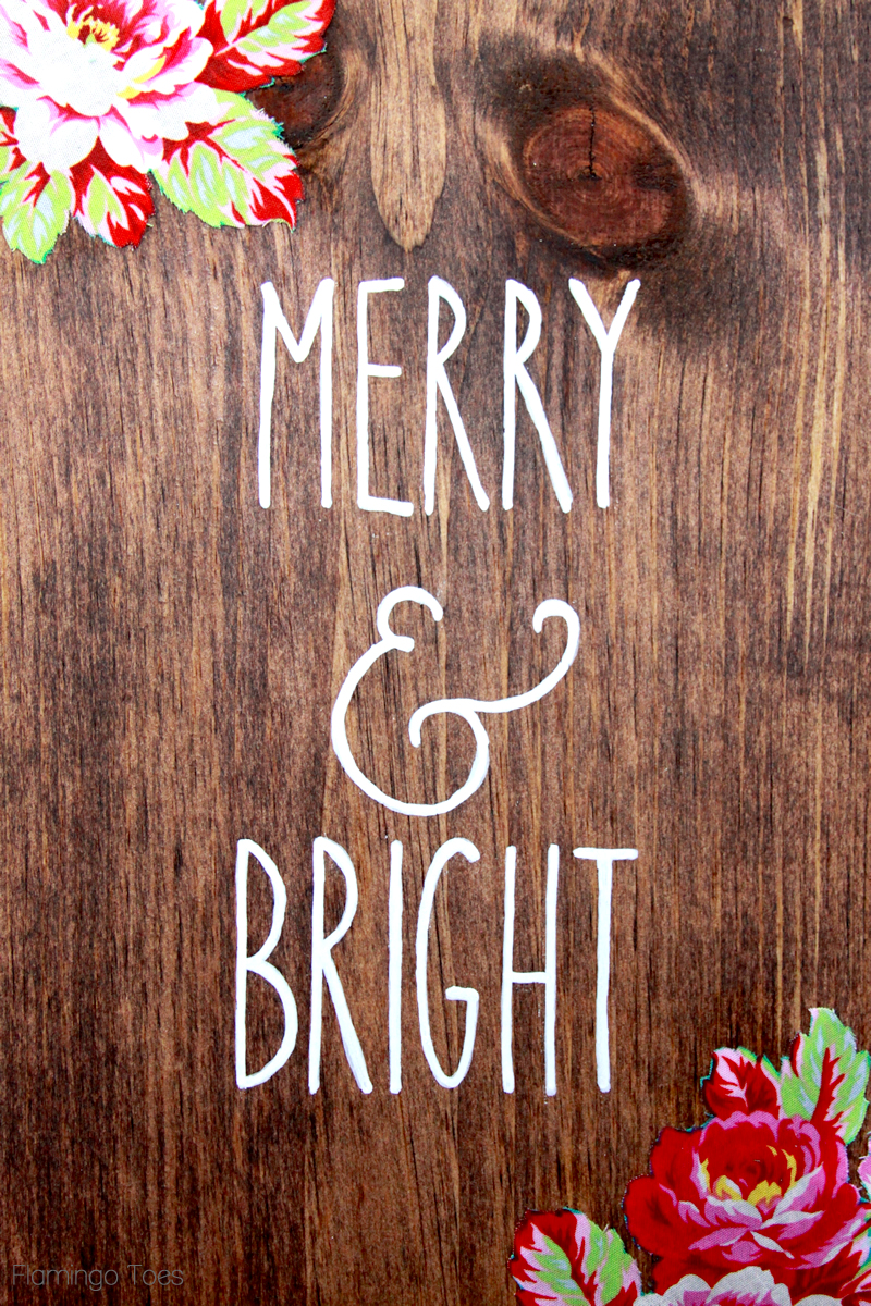 Merry and Bright Painted Lettering