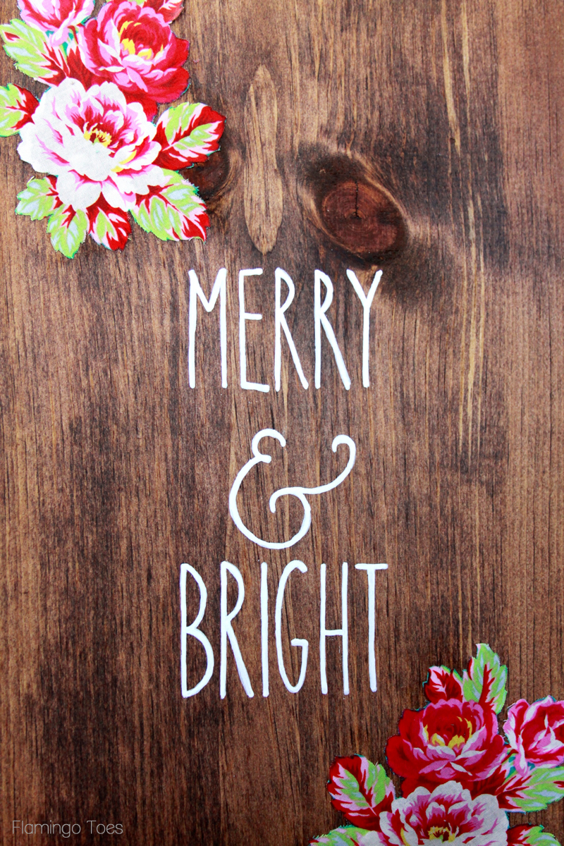 Merry and Bright Painted Sign