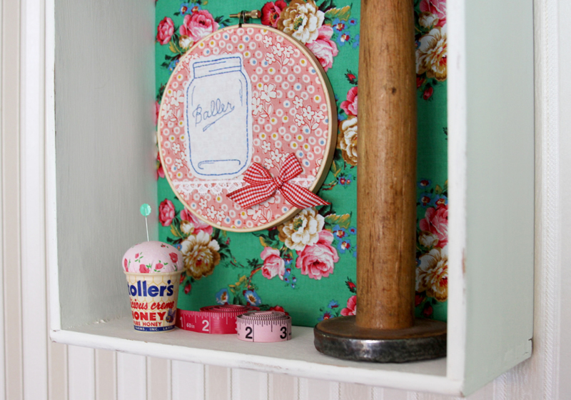 Shadowbox Shelf from Dresser Drawer