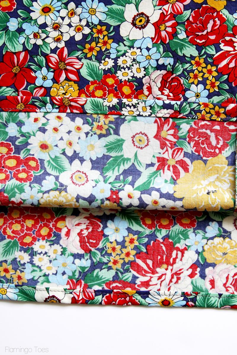 15 Minute DIY Skirt tutorial featured by top US sewing blog, Flamingo Toes: sewing hem in skirt
