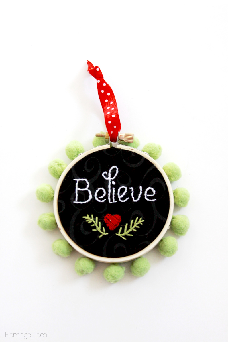 Chalkboard Ornament Ribbon