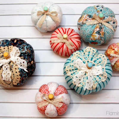 Colorful Fall Fabric Pumpkins