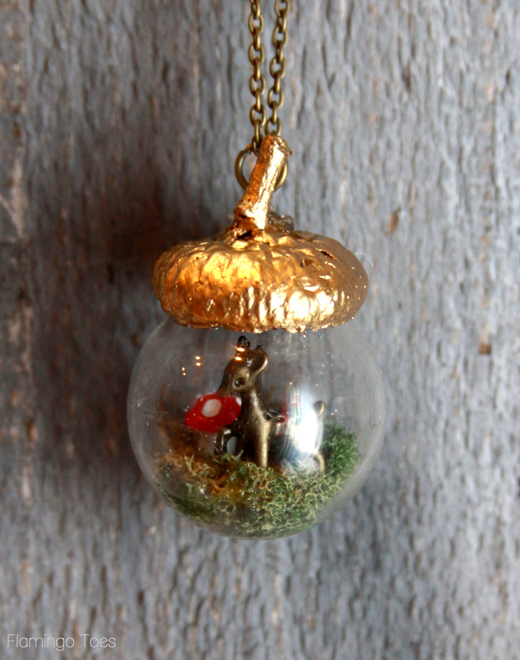 Easy Fall Acorn Necklace