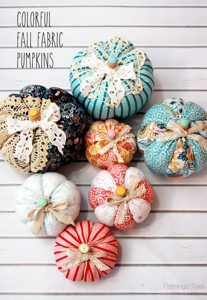Easy Fall Fabric Pumpkins