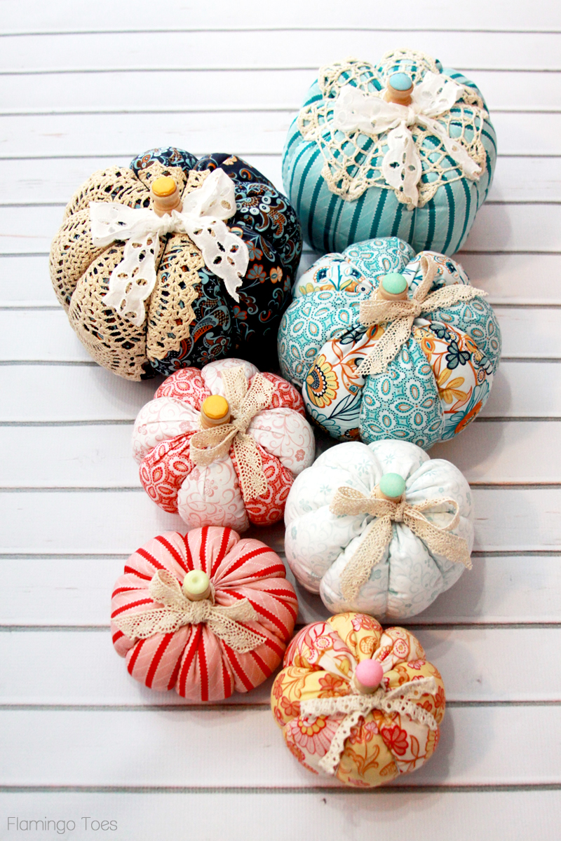 Easy Fall Fabric and Lace Pumpkins