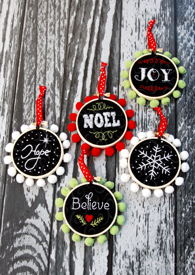 Embroidery Mini Hoop Ornaments