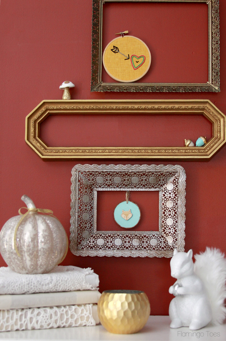 Fall Woodland Mantel