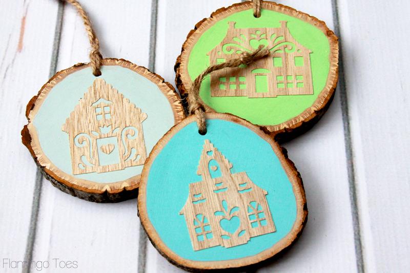 Folk Art Village Ornaments