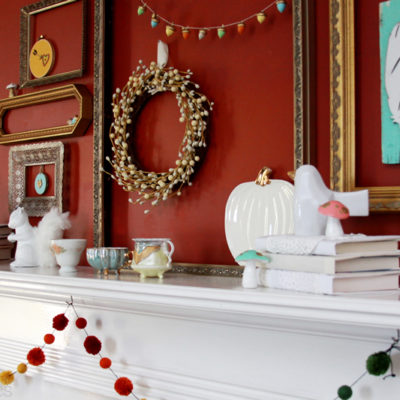 Woodland Fall Mantel Display