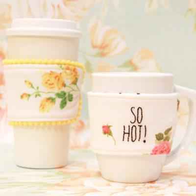 Easy & Cute Fabric Mug Cozy Tutorial