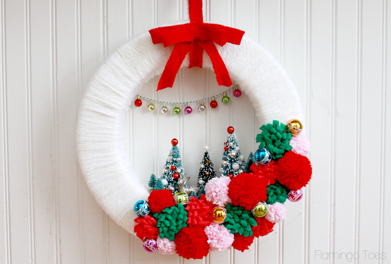 Retro Style Winter Wonderland Wreath