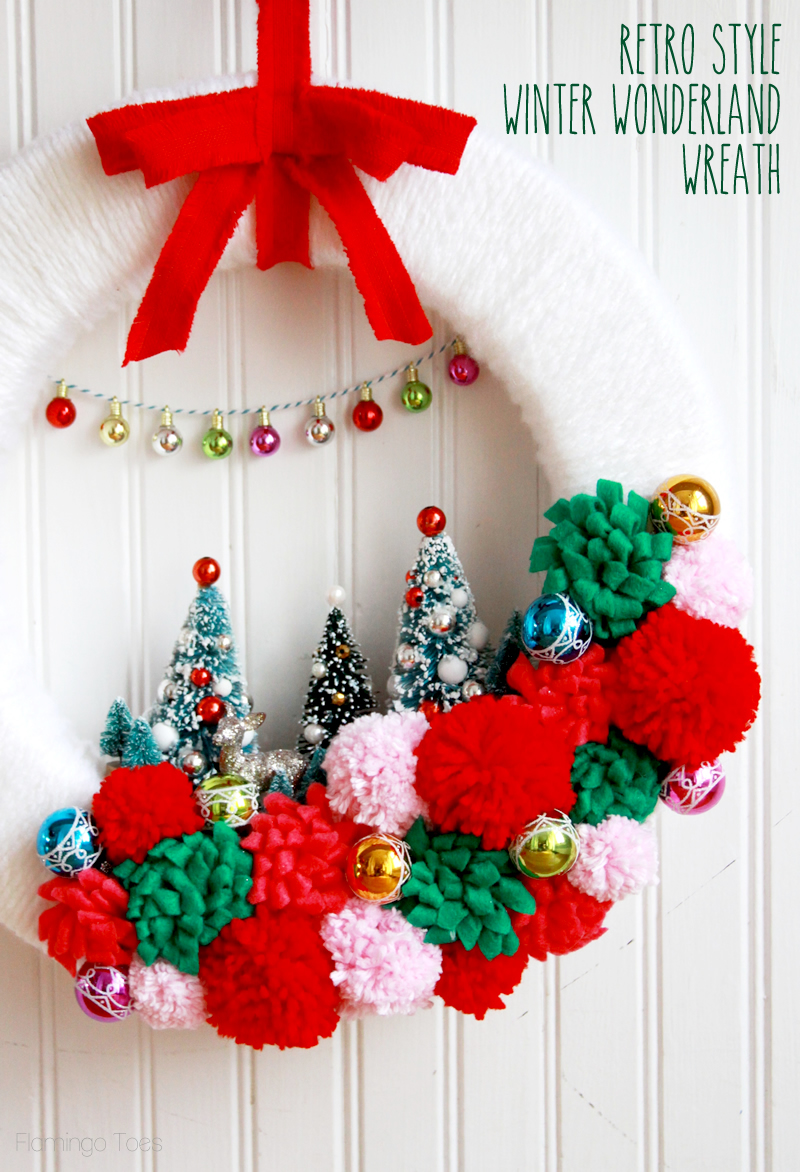 Retro Winter Wonderland Wreath