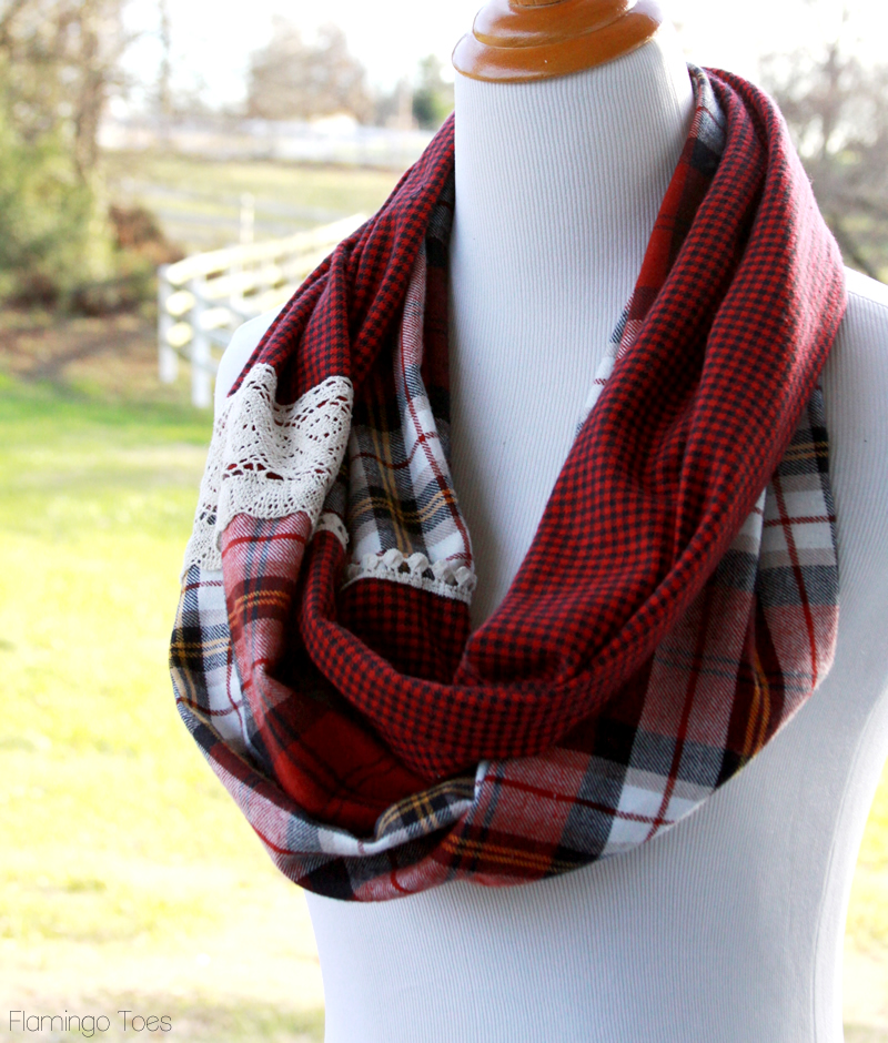 Simple Plaid DIY Scarf