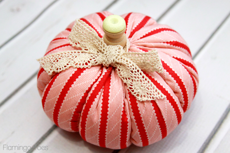 Sweet Little Stuffed Fabric Pumpkin