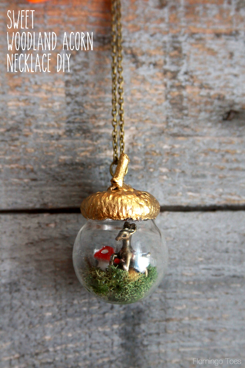 Sweet Woodland Acorn Necklace DIY