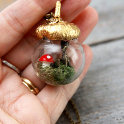 Sweet Woodland Acorn Necklace