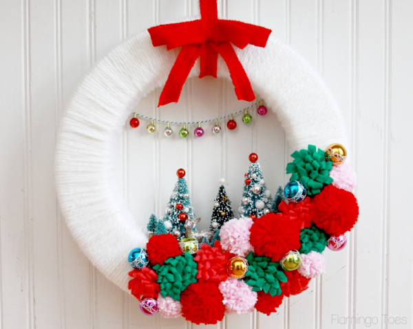 Vintage Syle Winter Wonderland Wreath