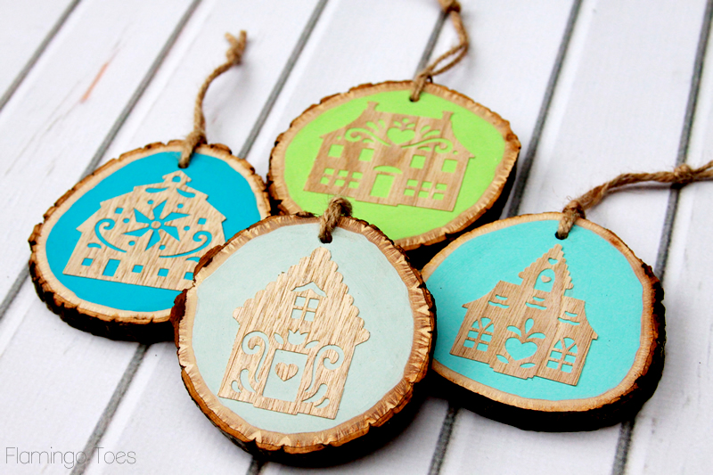 Wooden Folk House Ornaments