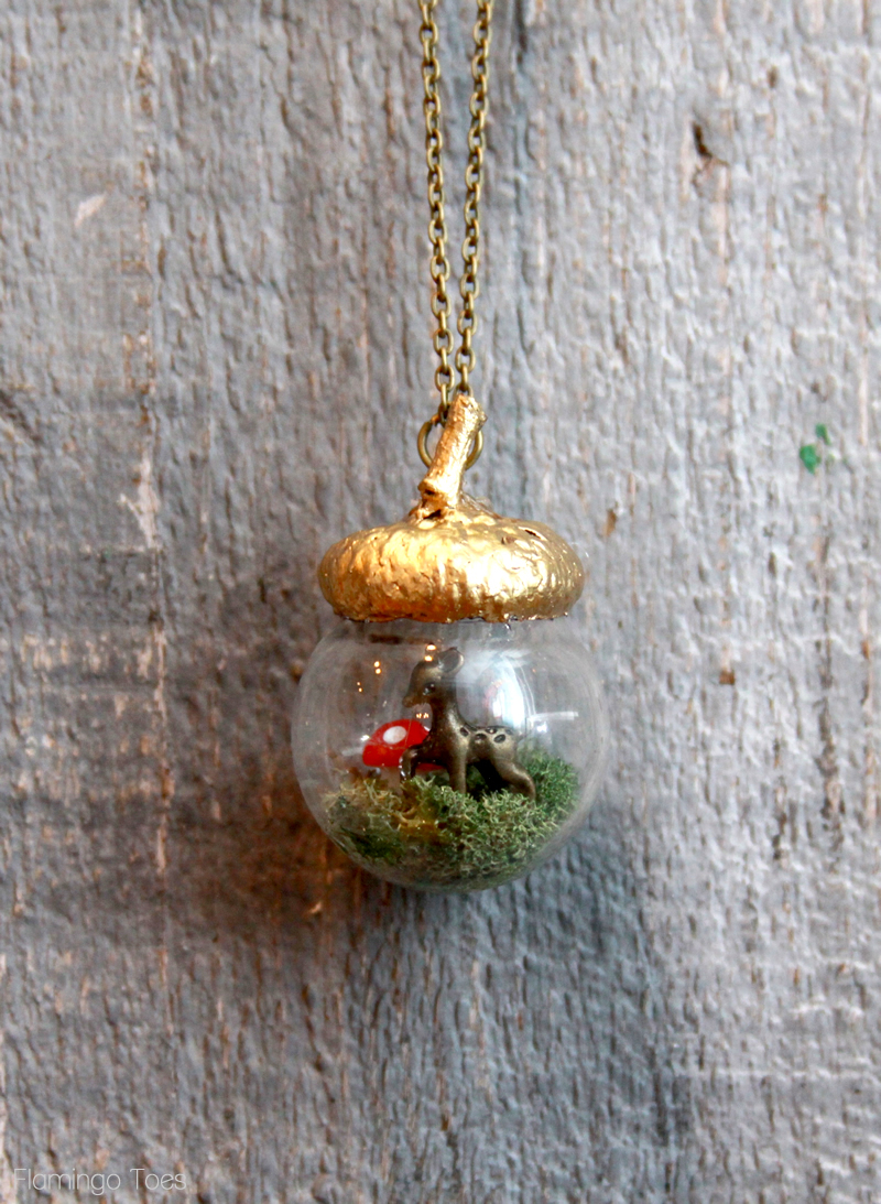 Woodland Acorn Necklace DIY