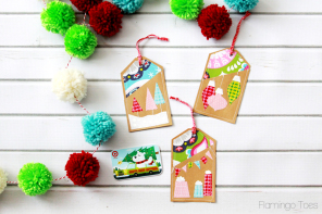 Colorful Stitched Gift Card Holders