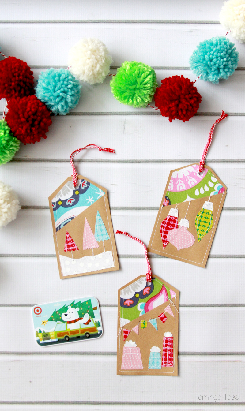 Christmas Stitched Gift Card Holders