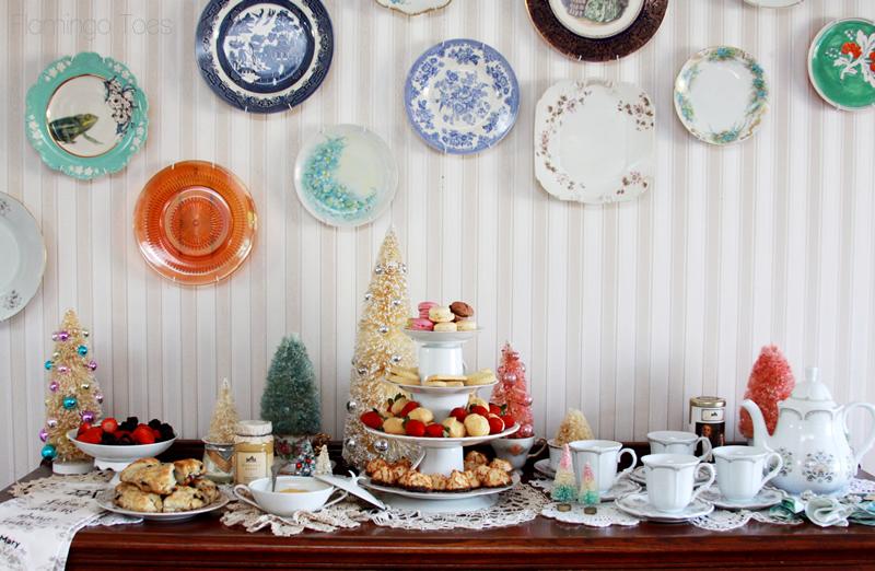 Christmas Tea Party Display