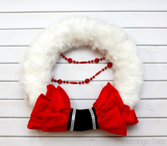 DIY Christmas Santa Wreath