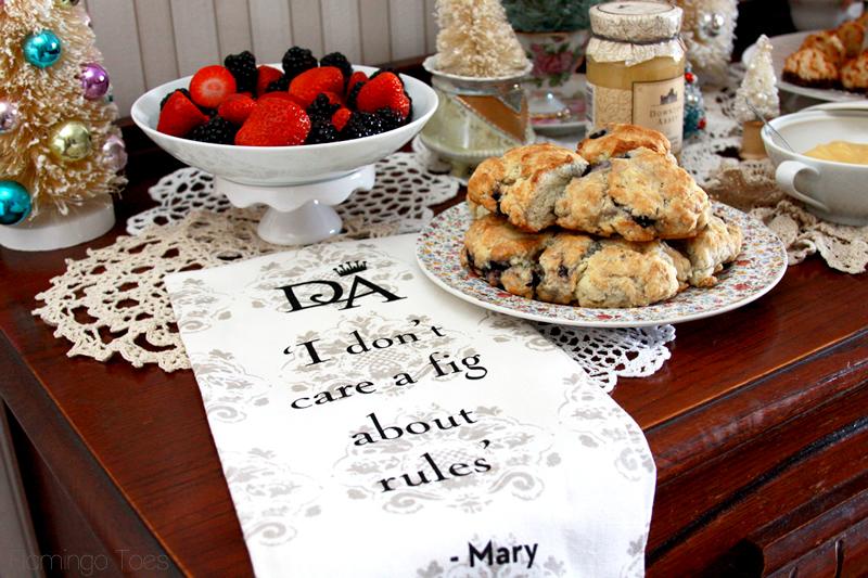 Downton Abbey Tea Towel and Treats