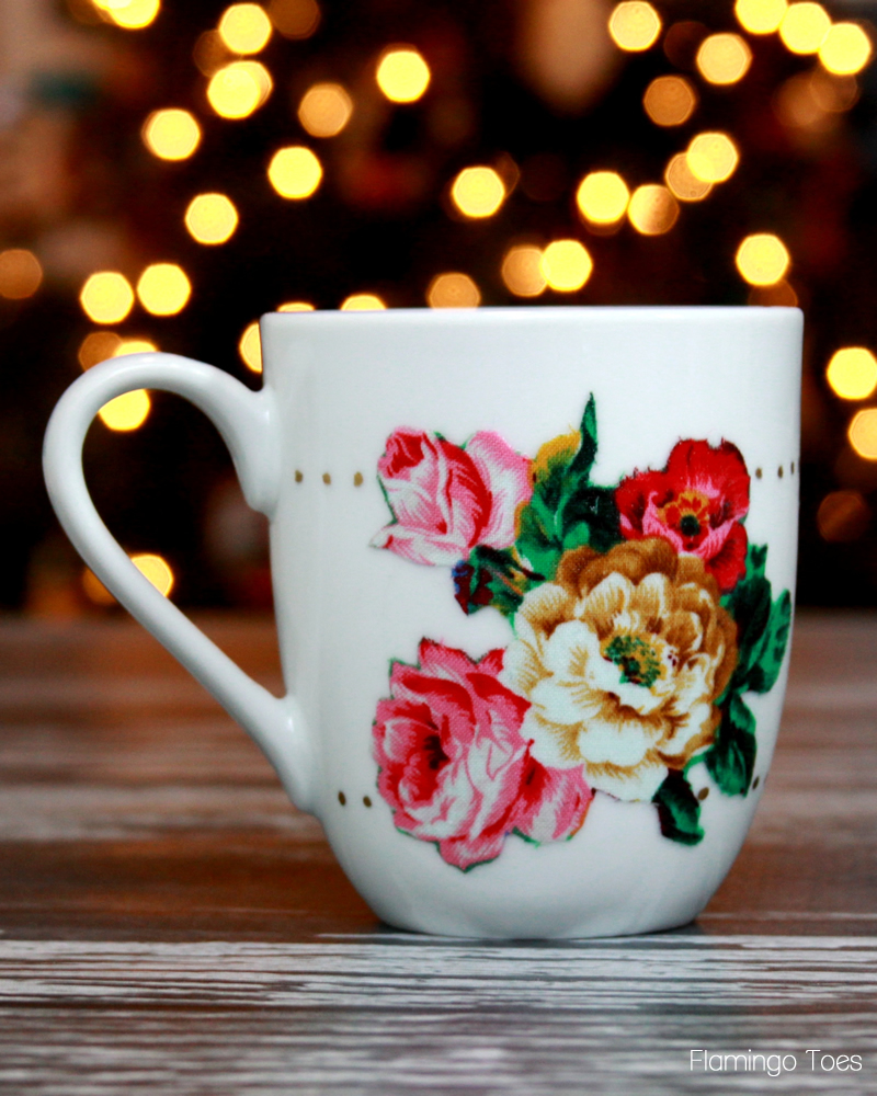 Fabric Decoupage Mug