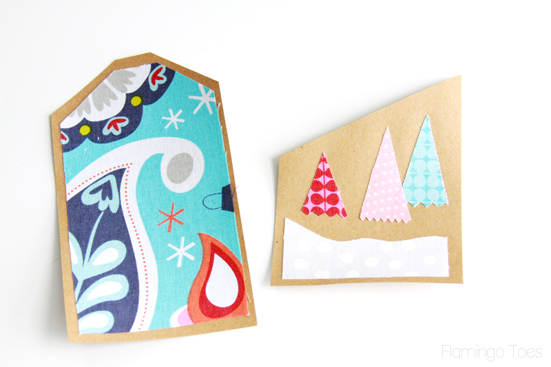 Fusing fabric to paper