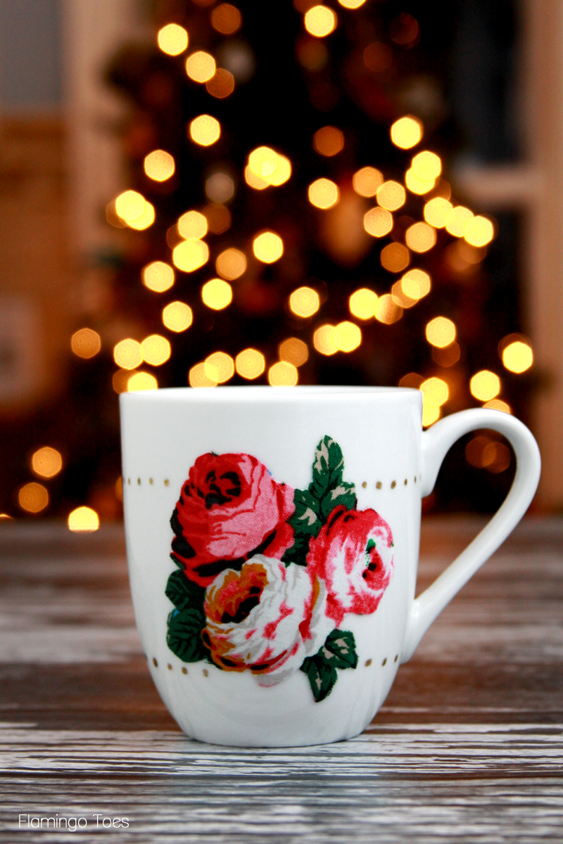 Polkadots and Flowers Mug