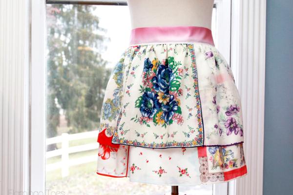 Pretty Vintage Handkerchief Apron