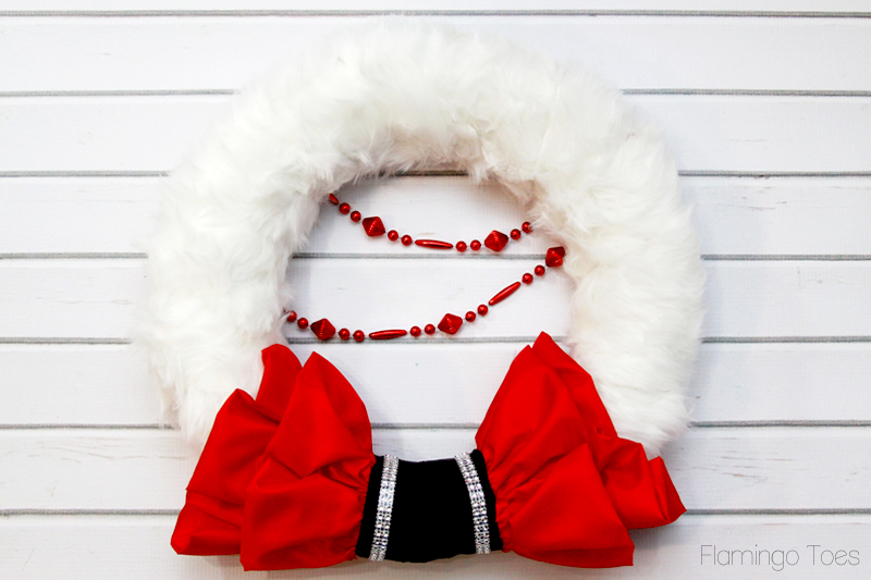 Red and White Santa Wreath