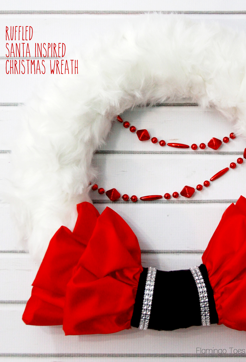 Ruffled Santa Inspired Christmas Wreath