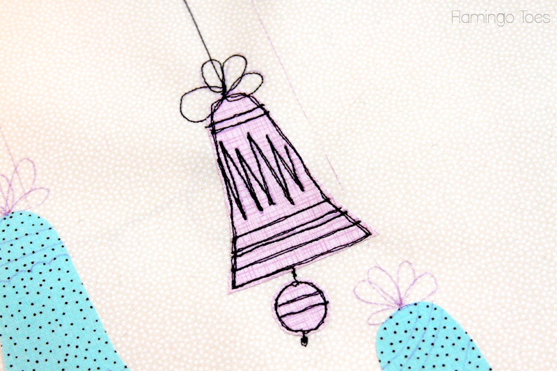 Stitching-Lines-on-Christmas-Bell